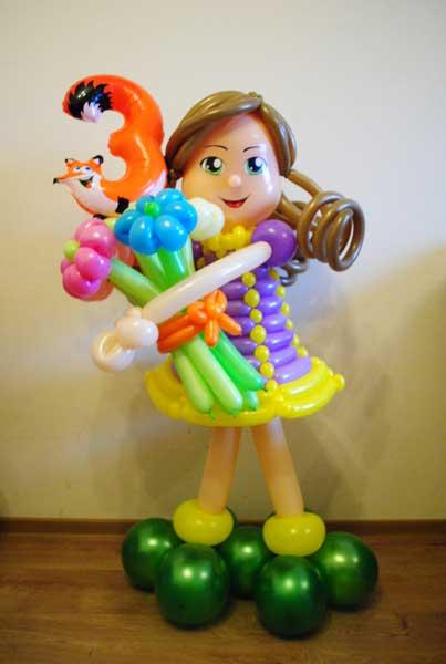 Фигура из шаров Девочка КАТЯ