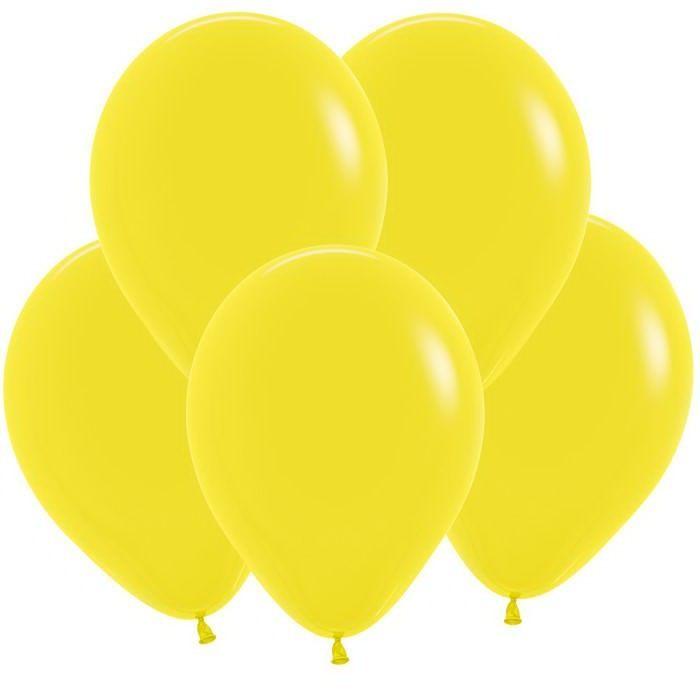 Желтый гелиевый шар ПАСТЕЛЬ