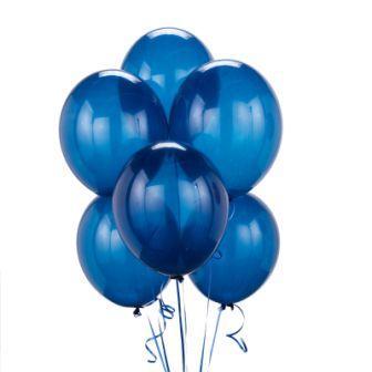 Синий воздушный шар кристалл