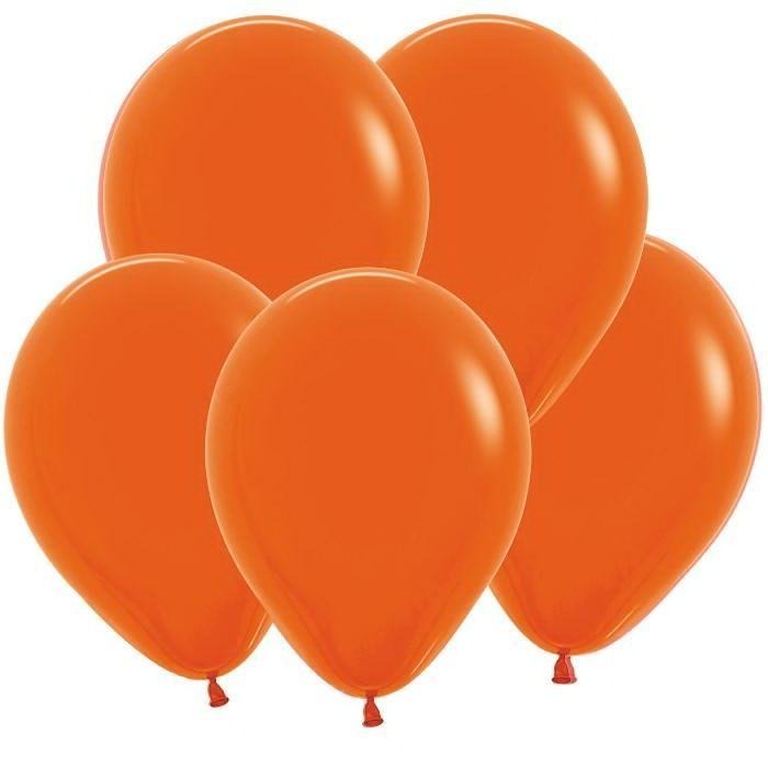Оранжевый гелиевый шар ПАСТЕЛЬ