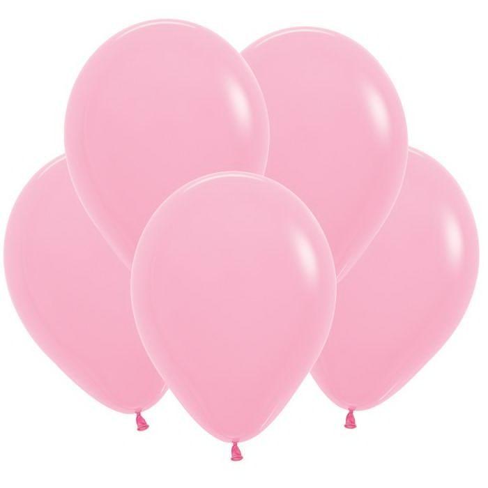 Розовый гелиевый шар ПАСТЕЛЬ