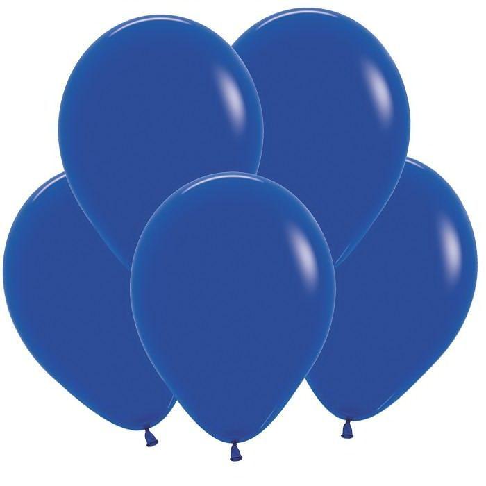 Синий гелиевый шар ПАСТЕЛЬ