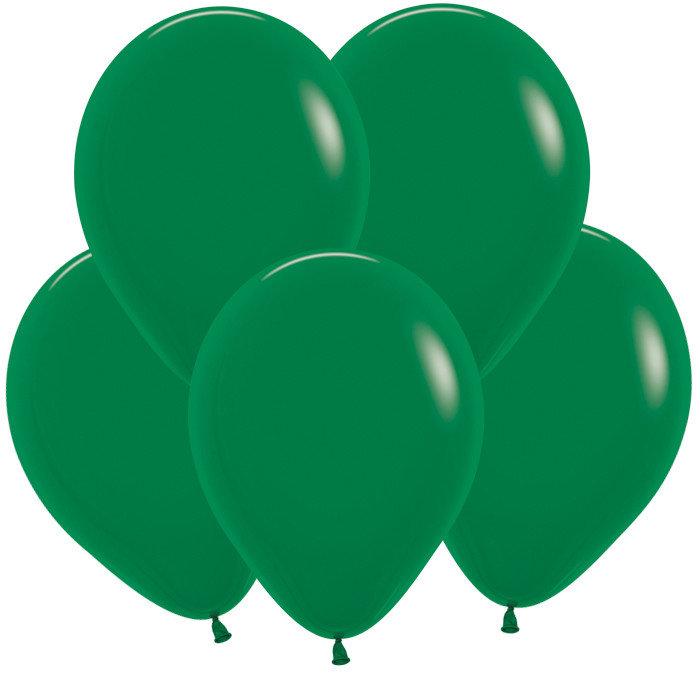Темно-Зеленый гелиевый шар ПАСТЕЛЬ