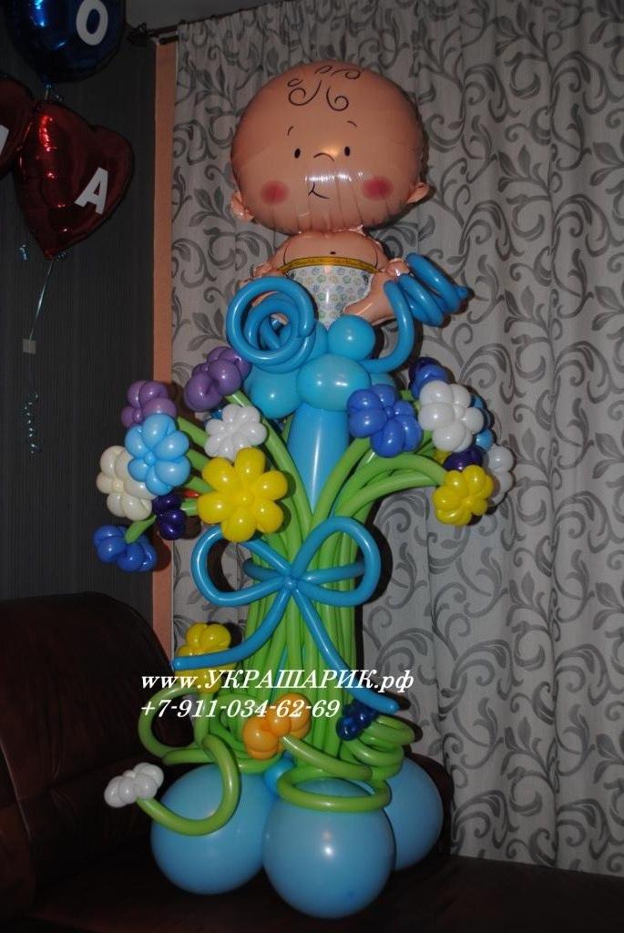 Младенец в цветах