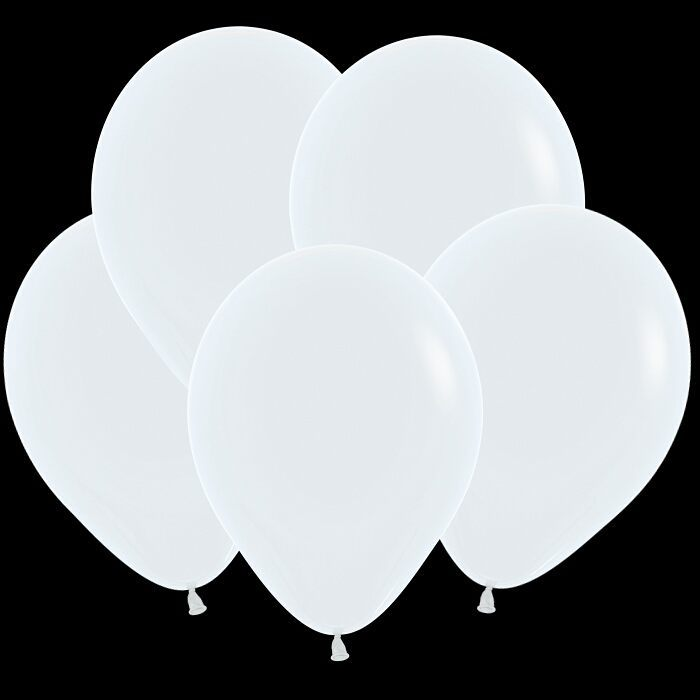 Белый гелиевый шар ПАСТЕЛЬ