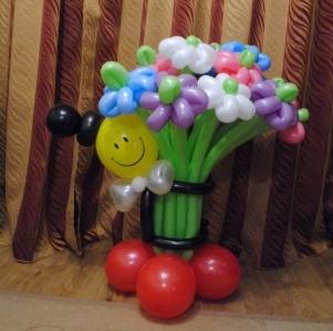 Букет цветов с Джентельменом