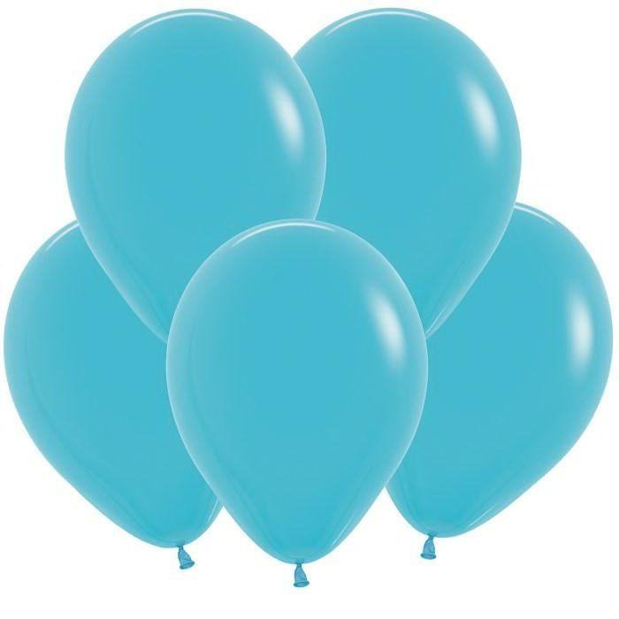 Голубой гелиевый шар ПАСТЕЛЬ