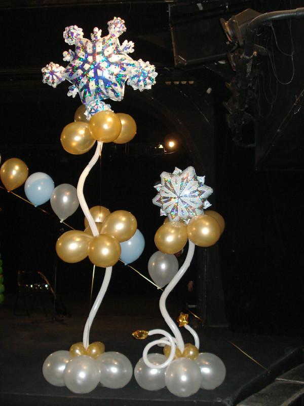 Оформление шарами нового года, шары на новый год - Мастер-классы