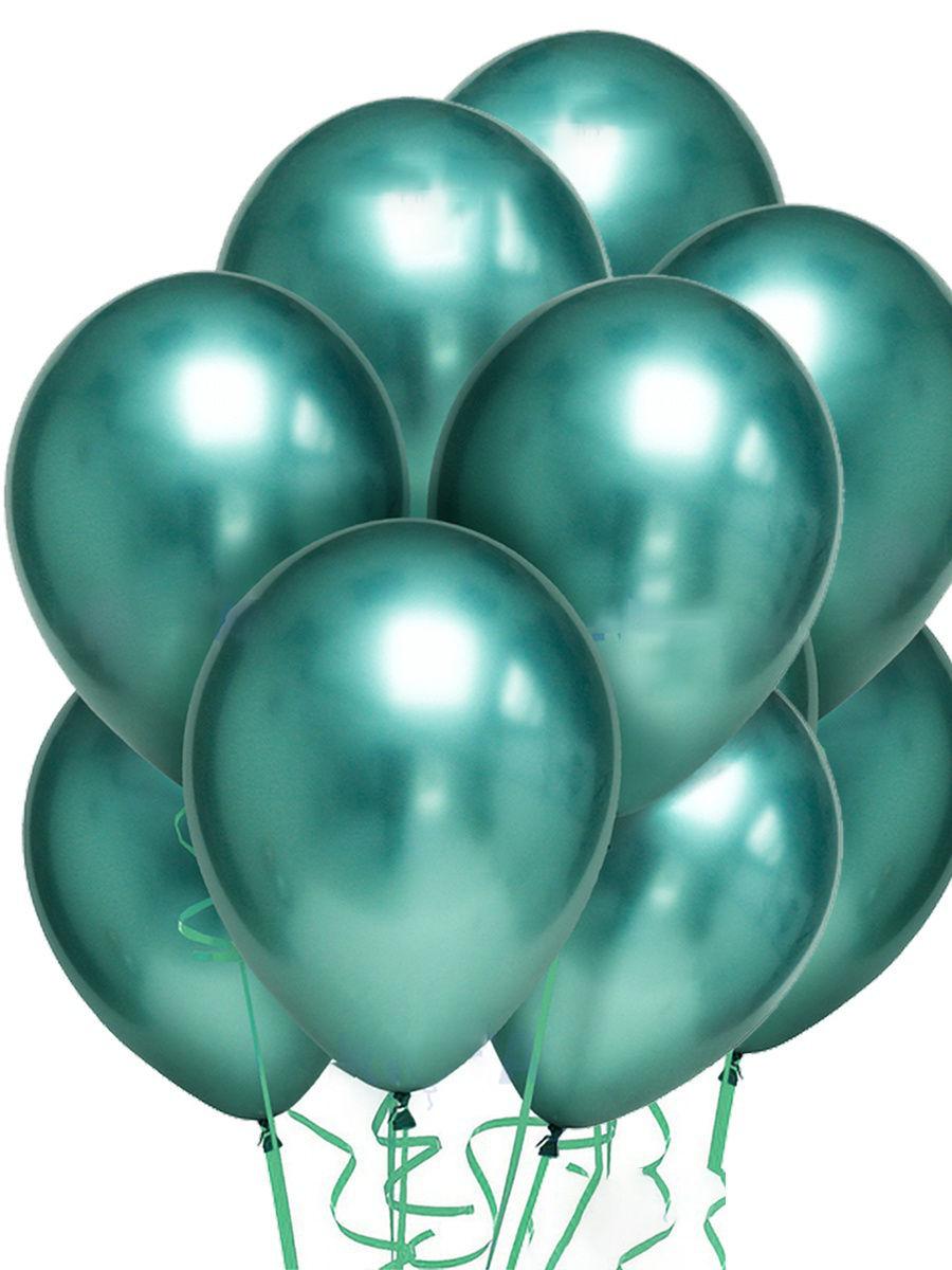 Латексный шар ХРОМ зеленый