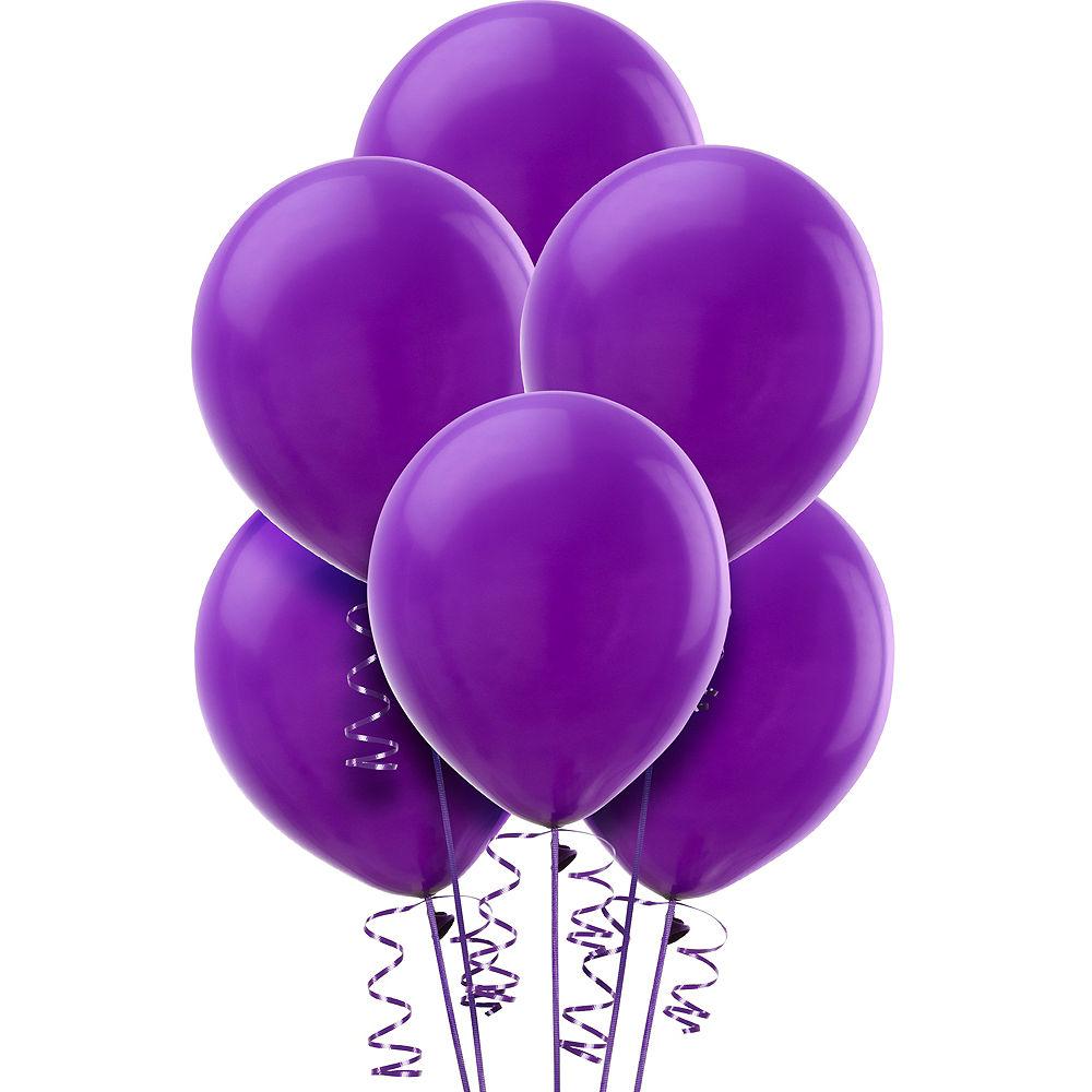 Фиолетовый гелиевый шар ПАСТЕЛЬ