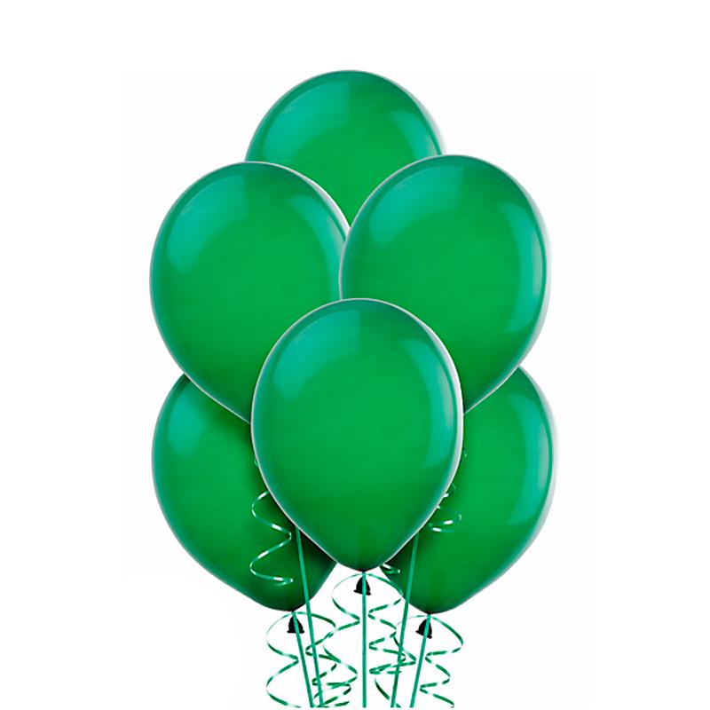 Зеленый гелиевый шар ПАСТЕЛЬ